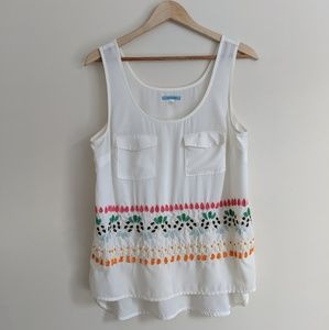 Leifnotes Anthropologie Beaded Pocket Tank 8